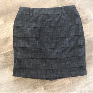 BWEAR heathered lightweight black denim skirt